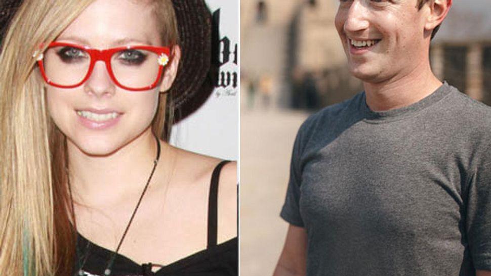 Avril Lavigne vs. Mark Zuckerberg - Foto: getty/facebook