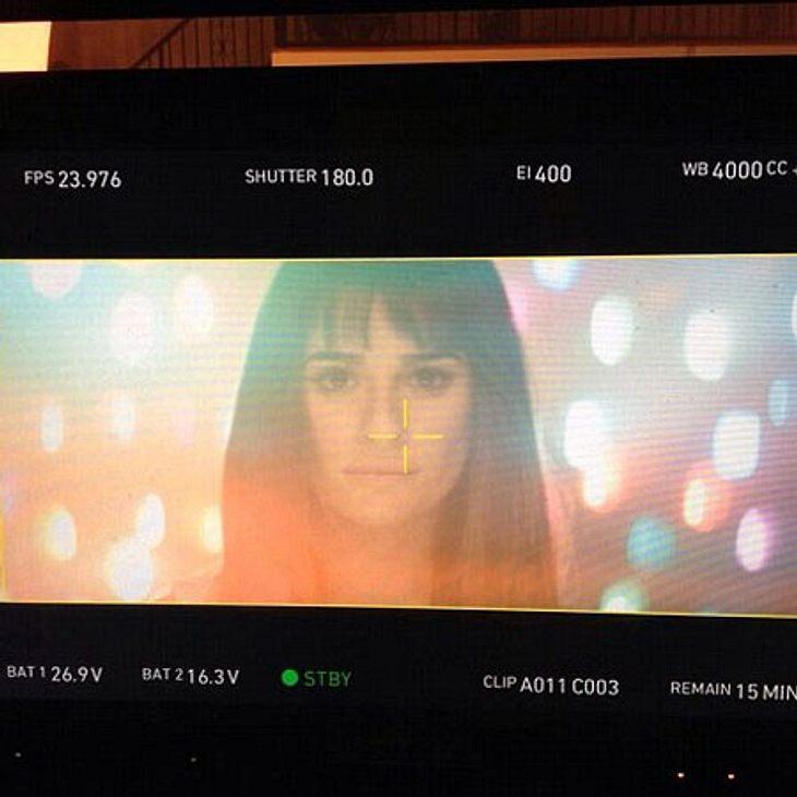 Lea Michele beim Dreh zu ihrem ersten Musikvideo.