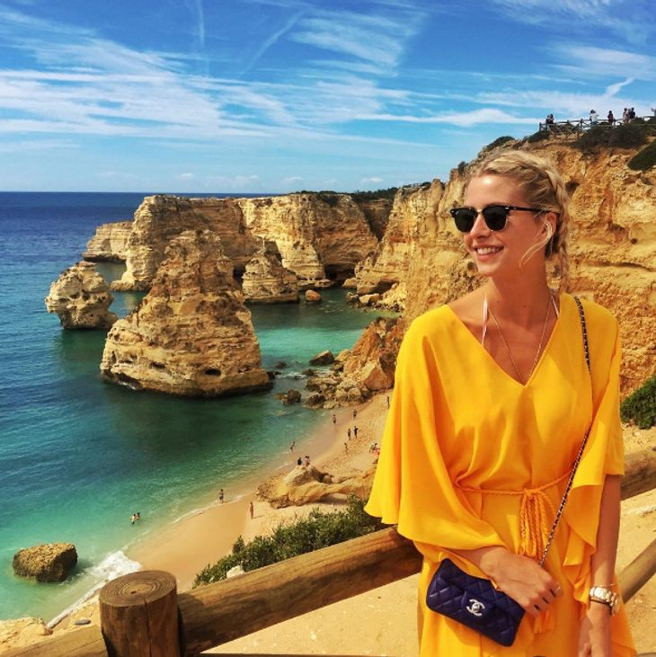 Lena Gercke relaxt in Portugal
