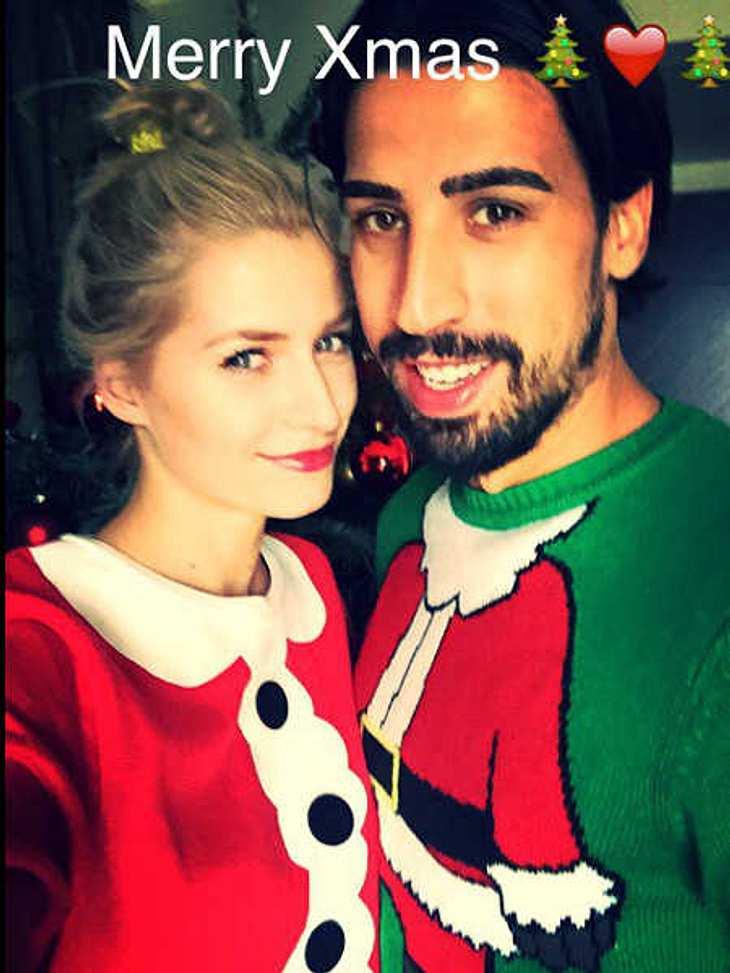 Lena Gercke postet süßes Weihnachts-Foto mit Sami Khedira