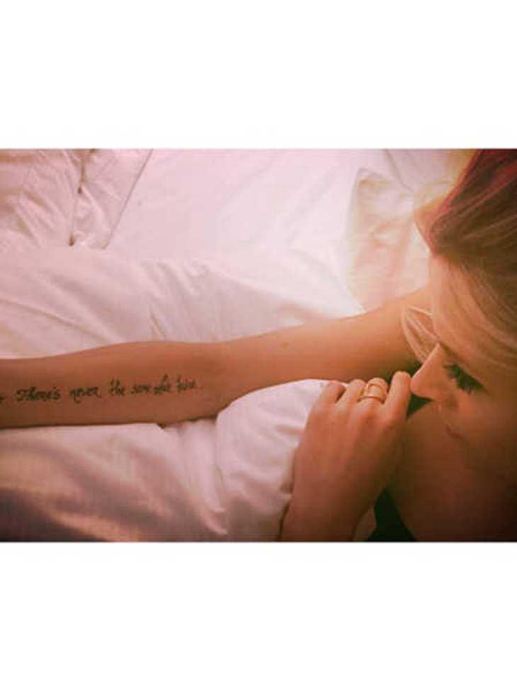 Lena Gercke: Hat sie sich ein Tattoo stechen lassen?