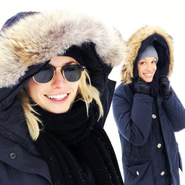Lena Gercke mit ihrer Fell-Winterjacke
