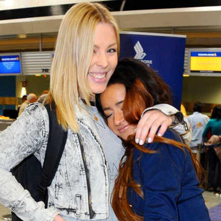 Leo und Gabby beim Abflug nach Australien
