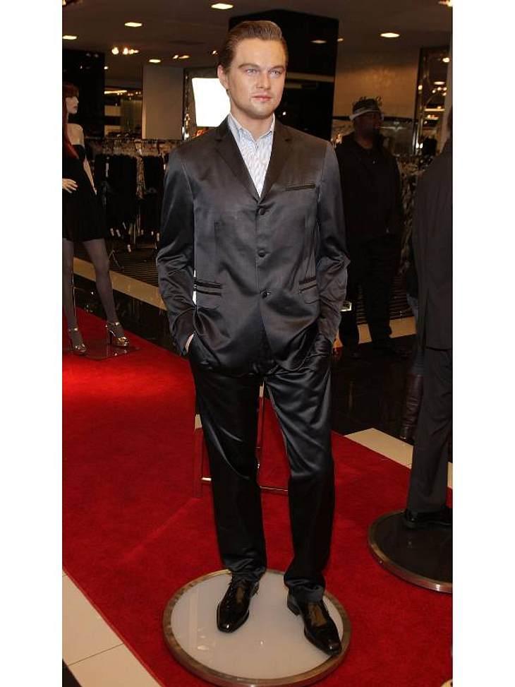 """Stars bei Madame Tussauds: """"Titanic""""-Star Leonardo DiCaprio wurde ebenfalls in Wachs gegossen und strahlt den Besuchern des Londoner Wachskabinetts entgegen."""