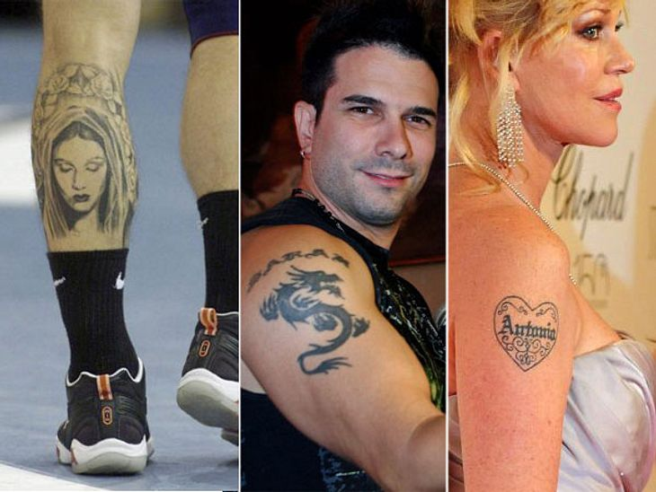 Die Liebes-Tattoos der StarsSchön und für immer - das sind Tattoos! Ein Tattoo nur für den Liebsten oder die Liebste ist vor allem eines - gefährlich! Denn so mancher Star schlägt sich noch immer mit Relikten aus tief in der Haut verarbeite