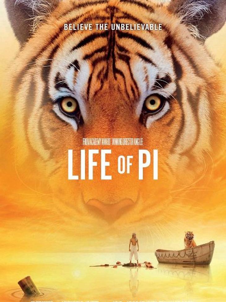 """Die Oscar-Filme 2013""""Life of Pi"""" ist die Verfilmung des Bestseller """"Schiffbruch mit Tiger"""". Ein filmisches Spektakel in 3D.Elf Nominierungen für den Oscar können nicht irren."""