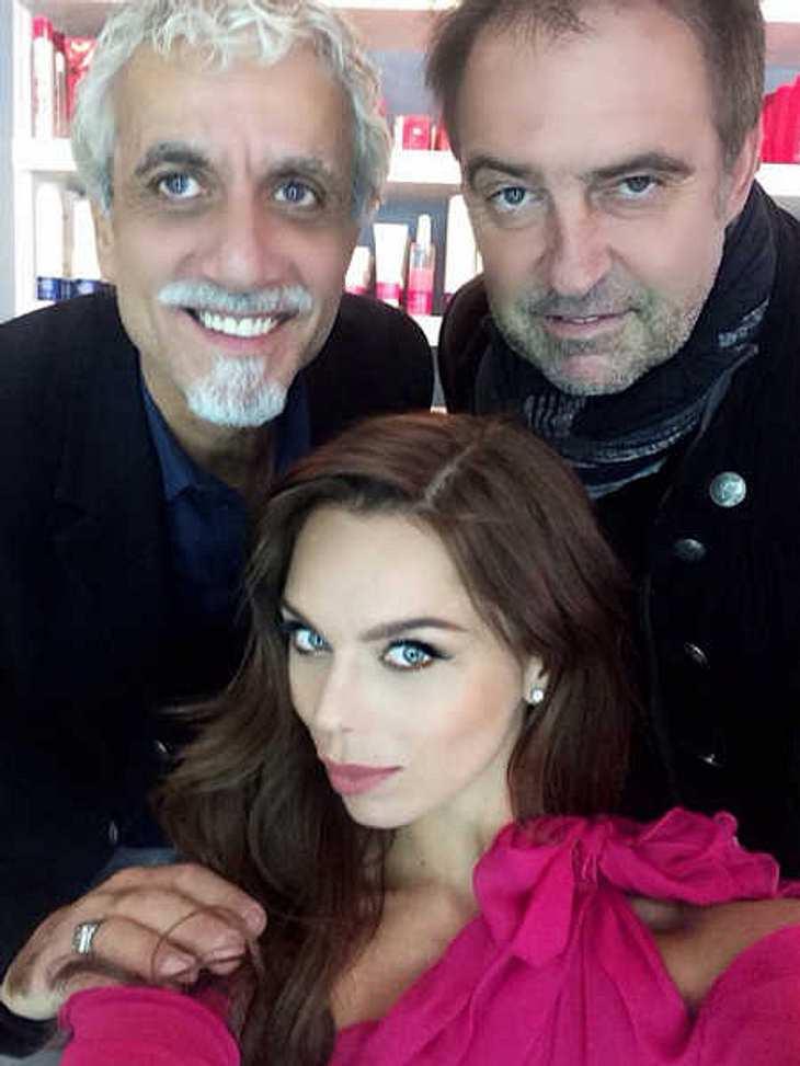 Liliana Matthäus mit Ric Pipino und Antoine Verglas