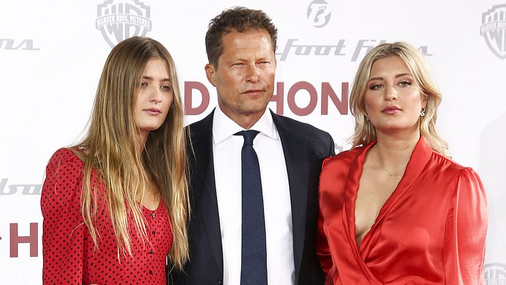 Lilli Schweiger mit Vater Til und Schwester Luna 2019