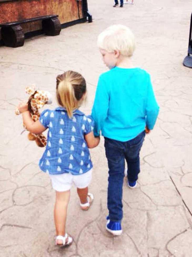 Amadeus Becker mit seiner Freundin.