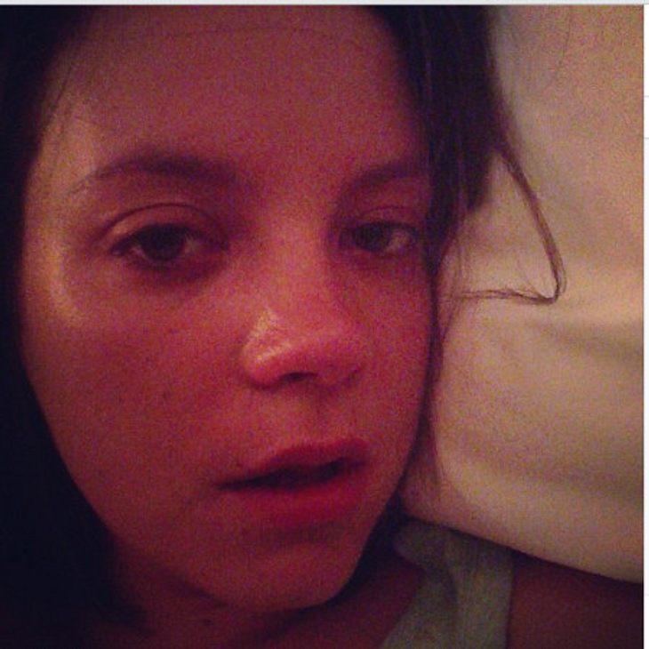 Lily Allen hat die Grippe