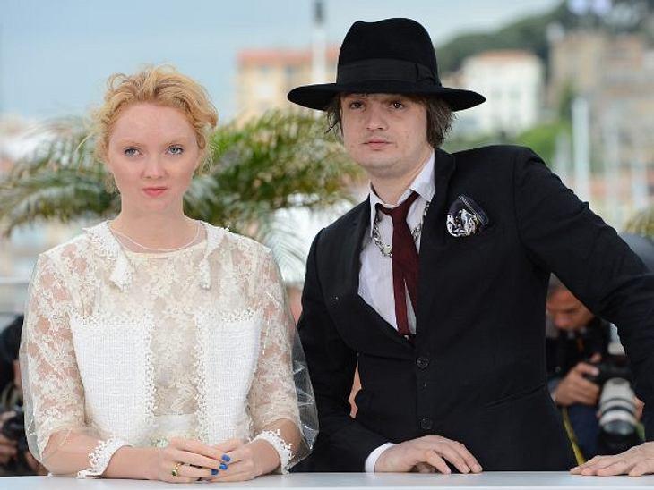 """Cannes 2012Eine außergewöhnliche Konstellation gaben Schauspielerin und Model Lily Cole (24) und Skandal-Rocker Pete Doherty (33) ab. Die stellten ihren gemeinsamen Film """"Confession Of A Child Of The Century"""" vor."""