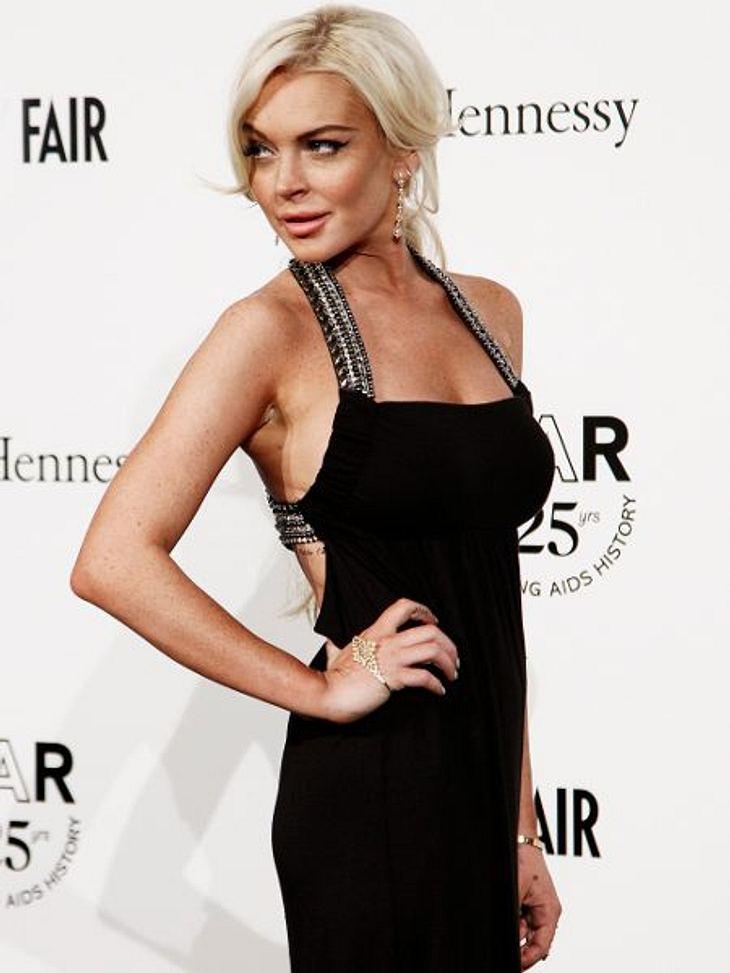 Stars: Vorher-NachherFRÜHER - Als Lindsay Lohan (26) noch regelmäßiger zu Drogen und Alkohol griff, vergaß sie das essen und war entsprechend dünn.