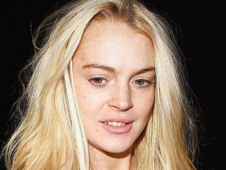 Stars ungeschminktFür ihr zartes Alter sieht  Lindsay Lohan schon ziemlich verlebt aus. Sonst verdeckt sie das unter viel Schminke.