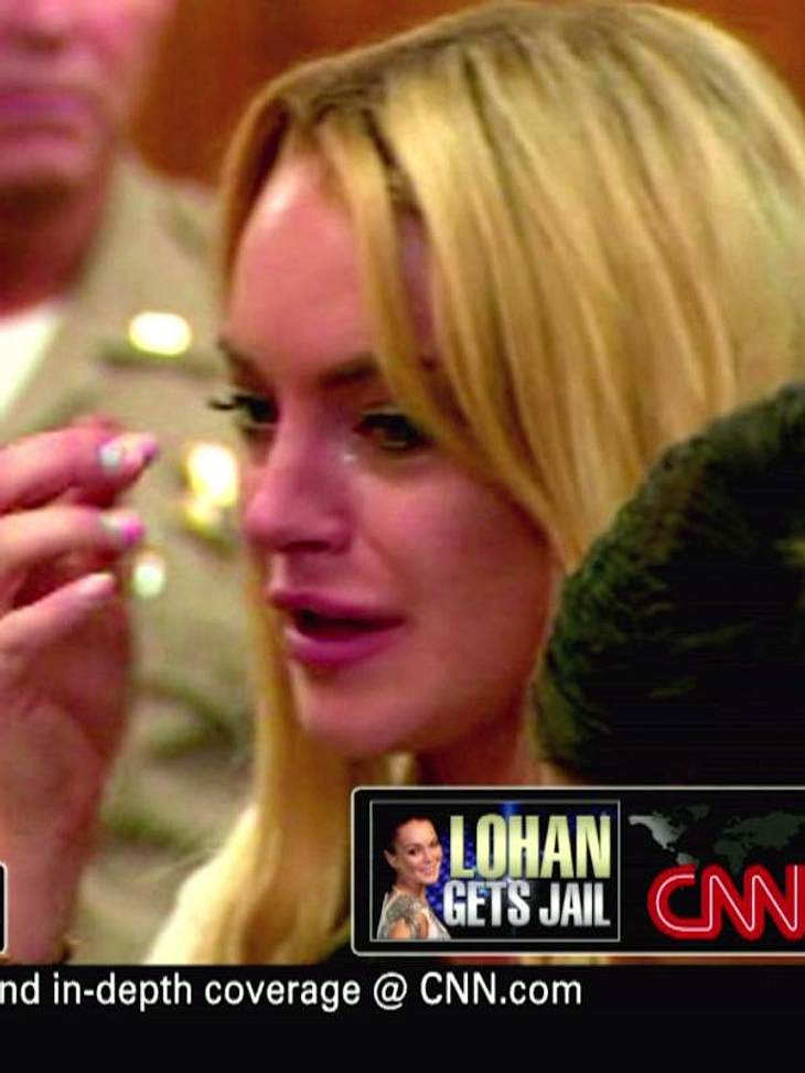 Lindsay Lohan muss für 90 Tage in den Knast: Da hilft auch heulen nicht