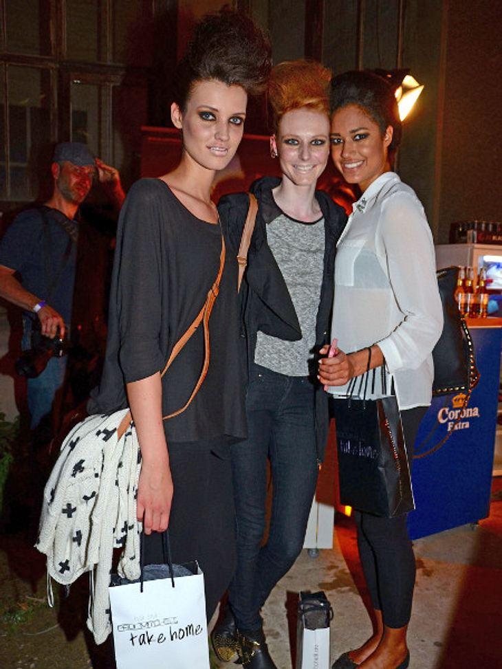 Lovelyn, Maike und Luise auf der Fashion Week
