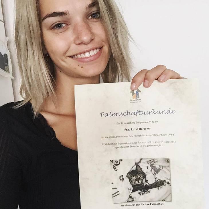 Luisa Hartema setzt sich für notleidende Tiere ein