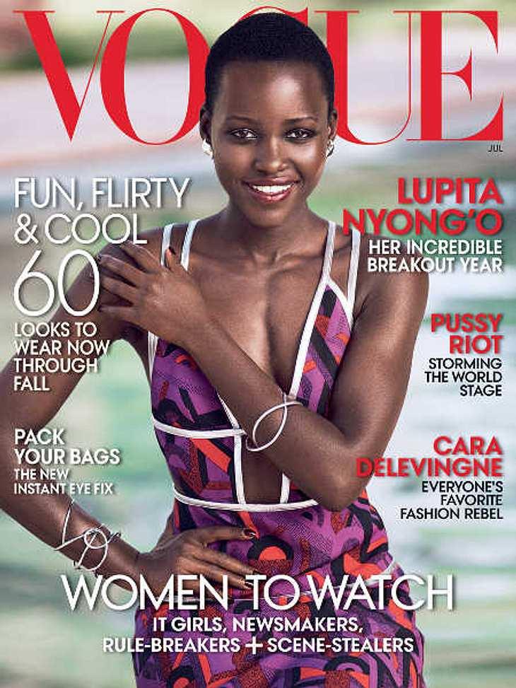 Lupita Nyong'o auf dem Cover der Vogue.