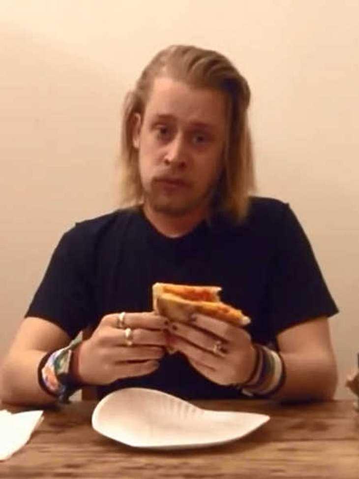 Macaulay Culkin möchte mit Pizza Karriere machen.