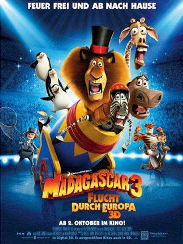 """Unser Kino-Tipp: """"Madagascar 3: Flucht durch Europa"""""""