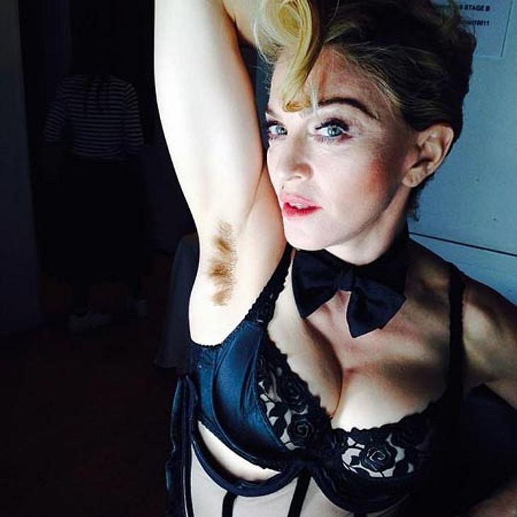 Madonna steht offenkundig auf Körperbehaarung...