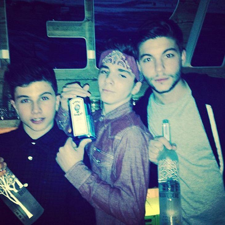 Madonna postete ein Bild von Rocco mit Alkohol-Flaschen in der Hand.