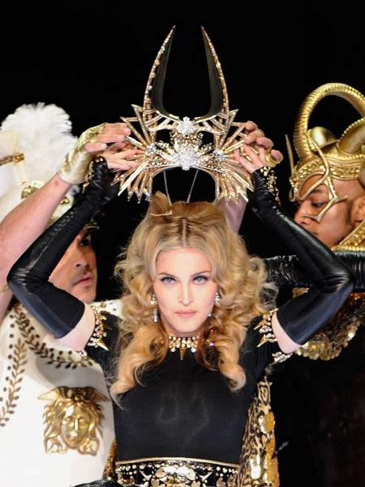 Madonna bei ihrem Super-Bowl-Auftritt