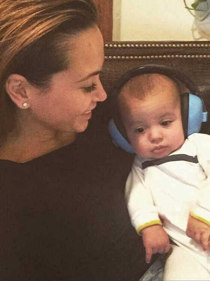 Das Baby hat das Herz von Mandy Capristo erobert.