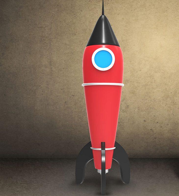 Mann will sich mit selbstgebauter Rakete in die Luft schießen