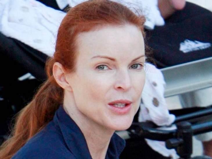 """Stars ungeschminkt """"Desperate Housewives""""-Star Marcia Cross ist ein sehr heller Hauttyp und deshalb sehr fade ohne Make-Up."""