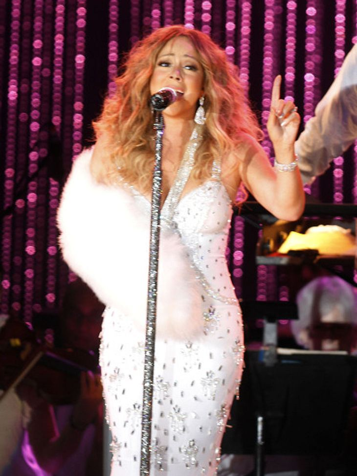 Mariah Carey bevorzugt derzeit bequemes Schuhwerk.