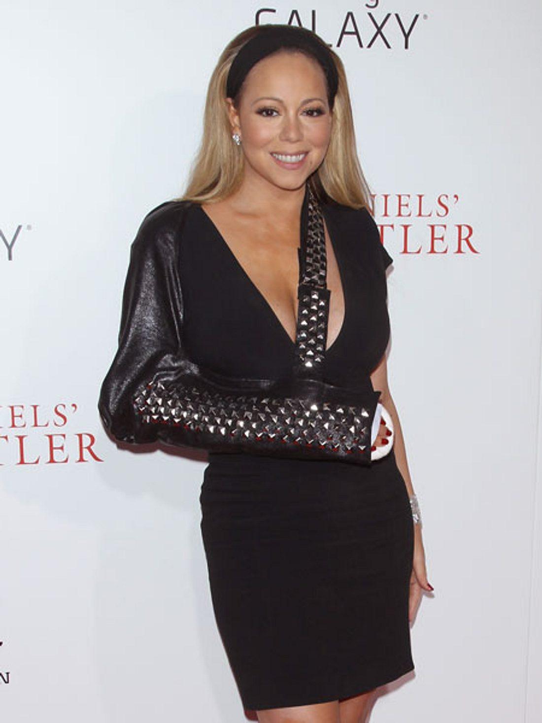 Mariah Carey zeigt ihren Glamour-Gips
