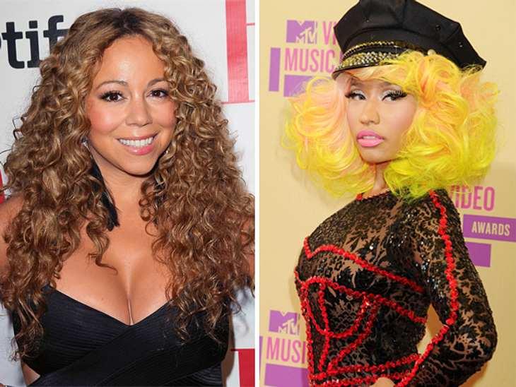 Da lieben sich zwei: Mariah Carey und Nick Minaj