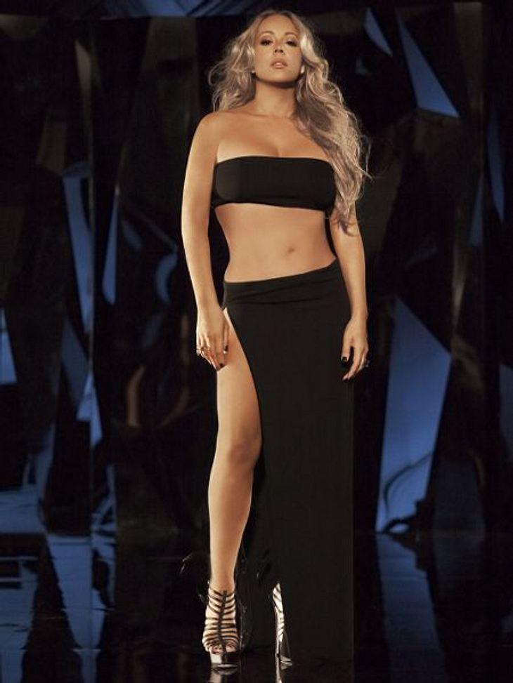 Stars: Vorher-NachherFRÜHER - Was war Mariah Carey (42) stolz, dass sie ihre Babypfunde wieder los war...