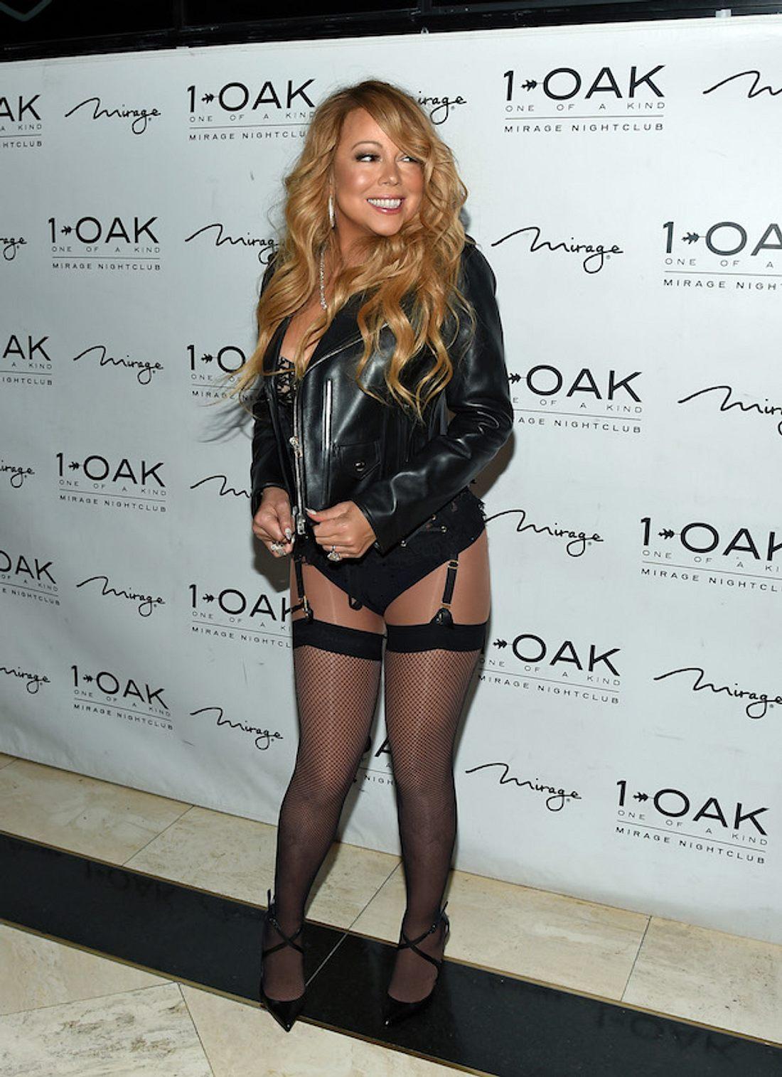 Huch! Mariah Carey zeigt sich im Strapsen-Outfit