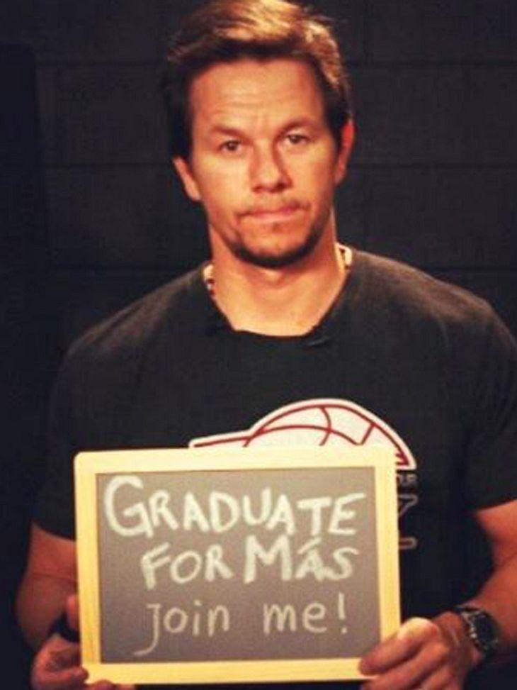 Mark Wahlberg: Schulabschluss mit 42!