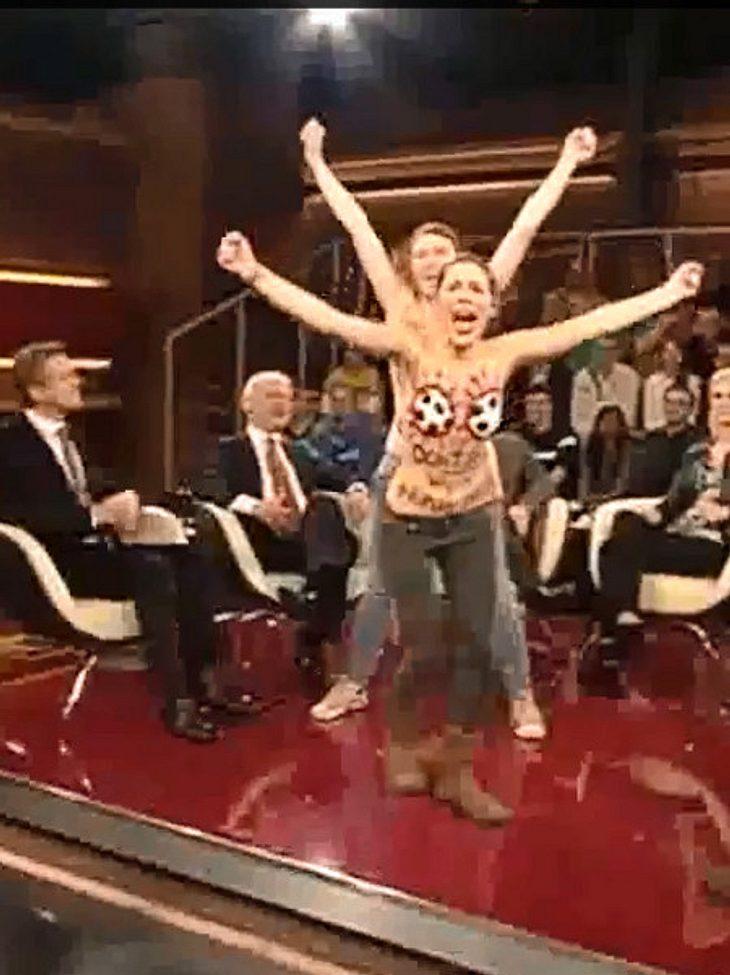 Femen stürmten die Bühne von Markus Lanz.