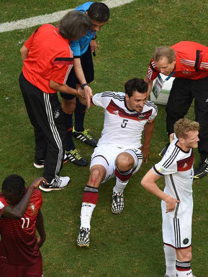 Mats Hummel hat sich beim Spiel gegen Portugal verletzt.