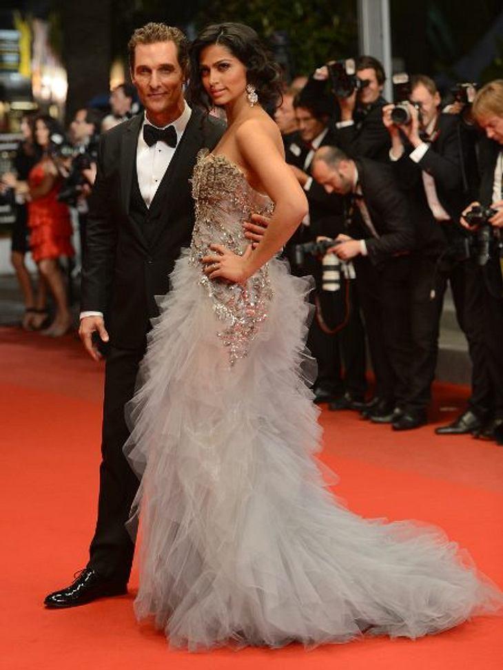 Cannes 2012 Matthew McConaughey (42) kam mit seiner Liebsten Camilla Alves (30) nach Cannes. Alle tuschelten darüber, dass der Schauspieler so viel abgenommen hat.