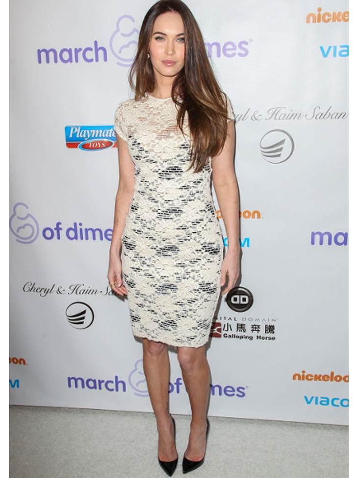 Klau den Look der Stars: Partykleider-SpecialFast wie die Jungfrau Maria: Megan Fox in unschuldigem Weiß.