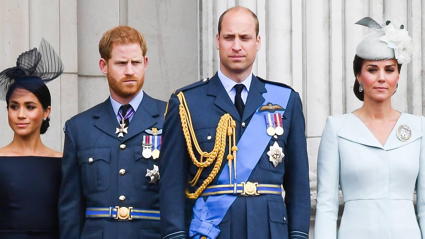 Meghan, Harry, Kate und William