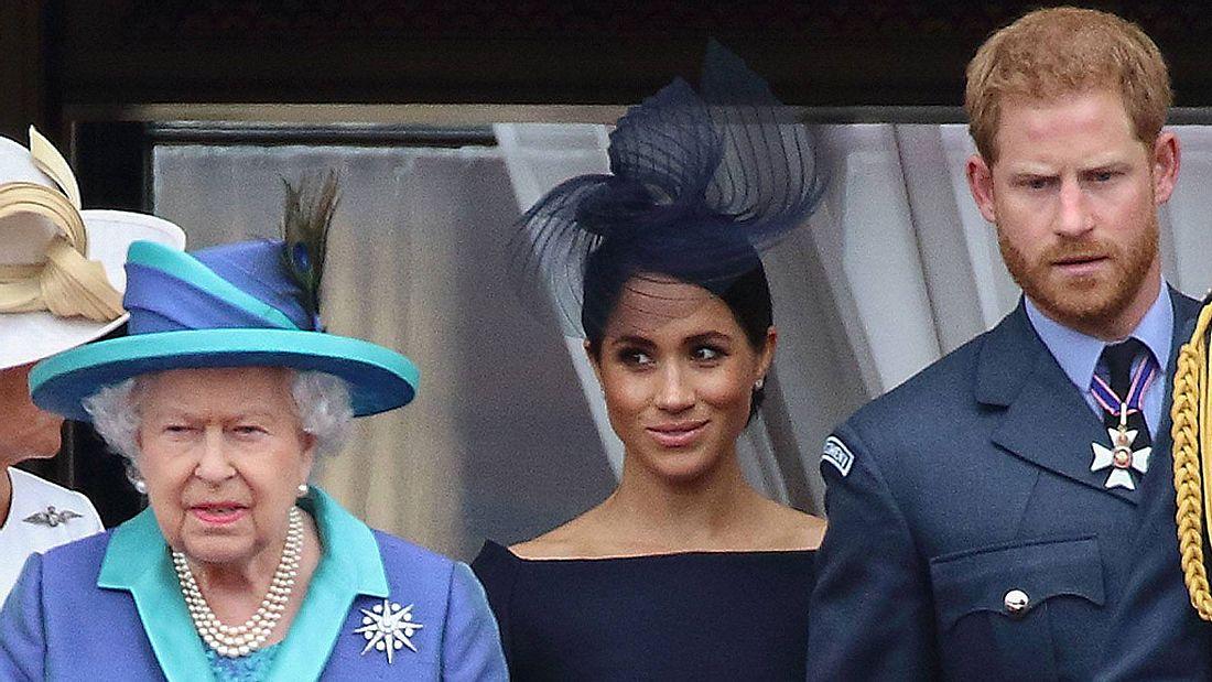 Meghan Harry und die Queen