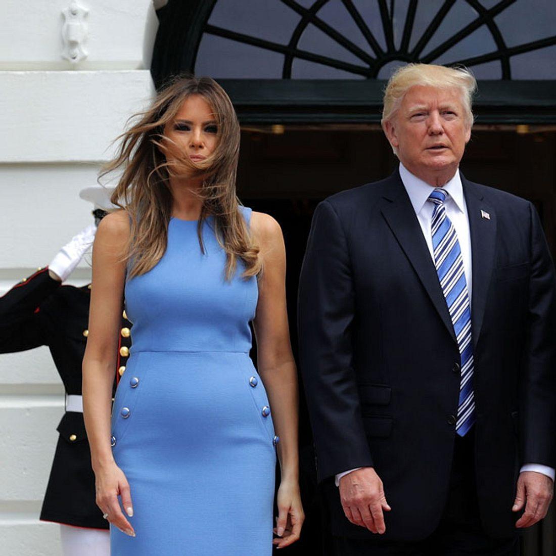 Erwarten Melania und Donald Trump etwa Nachwuchs?