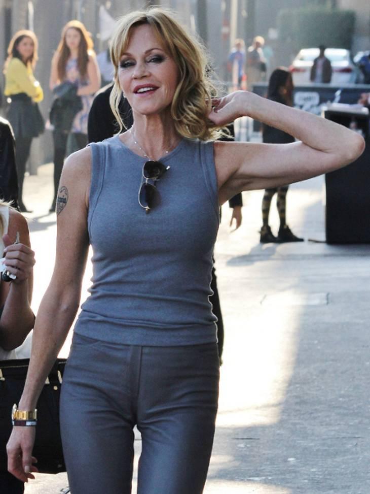 Melanie Griffith: Diese Hose ist etwas zu eng.