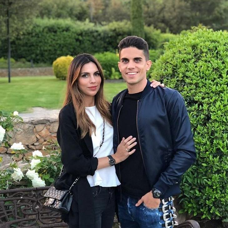Melissa Jimenez und Marc Bartra sind unzertrennlich