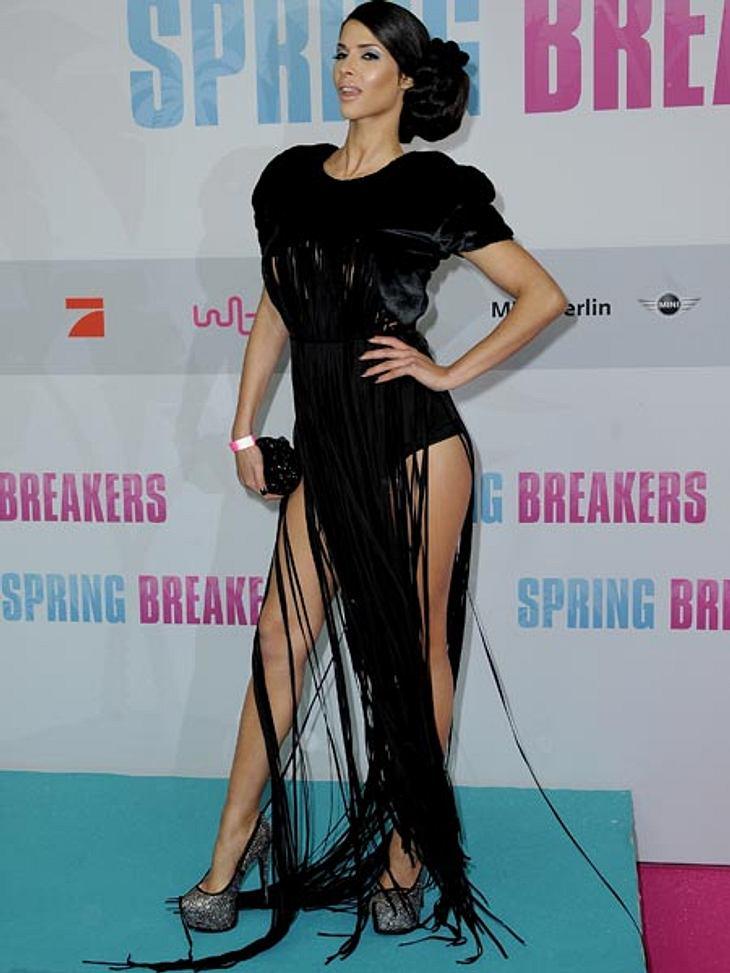 """Nach dem Trubel bei der letzten Film-Premiere, zeigte sie sich bei """"Spring Breakers"""" dezenter."""