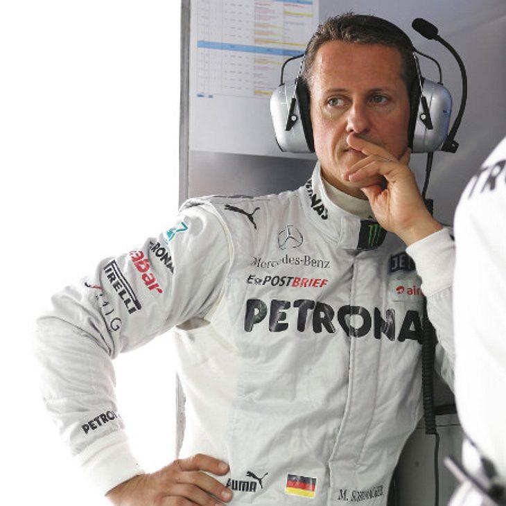 Michael Schumacher hat die gesicherte Piste verlassen