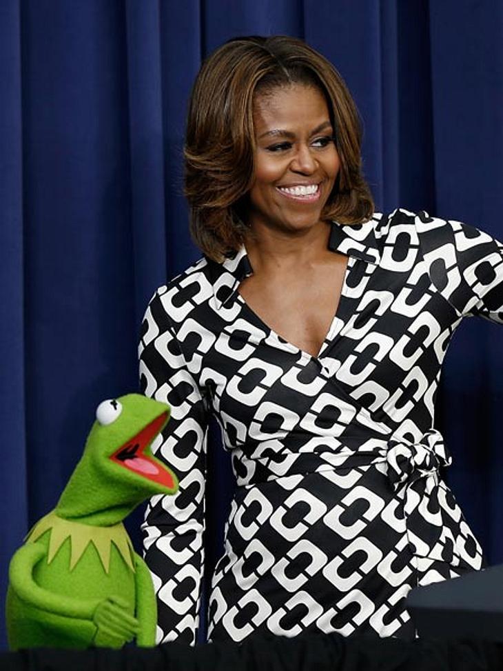 Kermit und Michelle Obama: Ein süßes Paar.