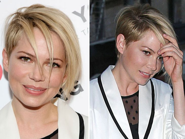 Michelle Williams mit neuer Frisur.