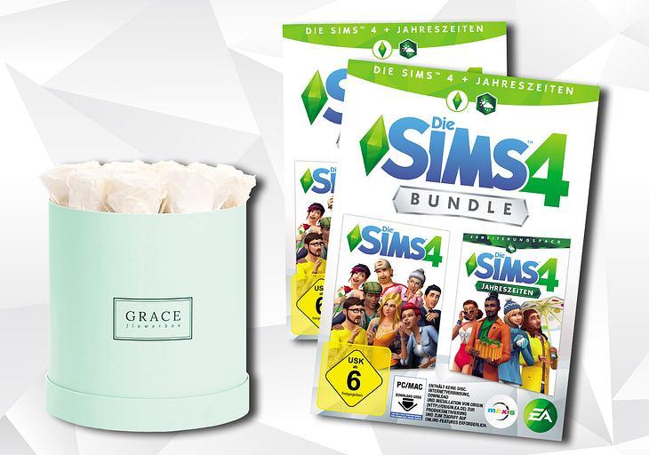2 Die-Sims-4-Pakete und 1 Grace Flowerbox