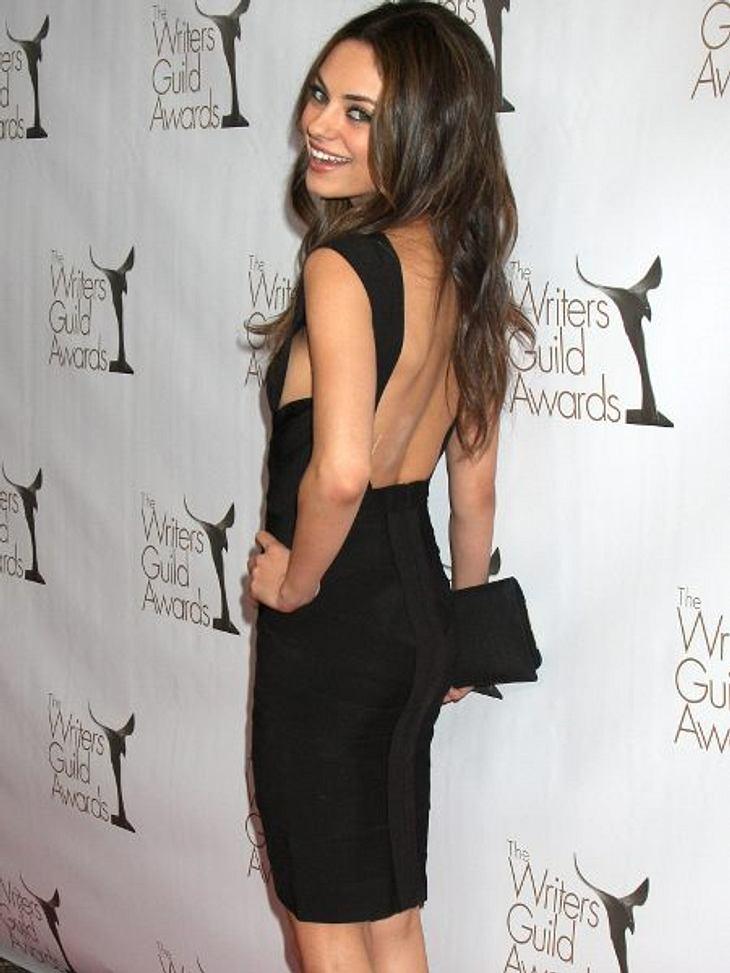 """Stars: Vorher-Nachher+ 13 Kilo FRÜHER - Vor zwei Jahren hungerte sich Mila Kunis (28) mit einer Fast-Null-Diät für ihre Rolle in """"Black Swan"""" auf 43 Kilo runter."""